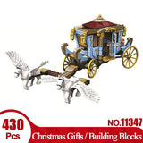 430pcs Building Blocks Carriage  Educational Toys Carriage of Magic School Toys Gift