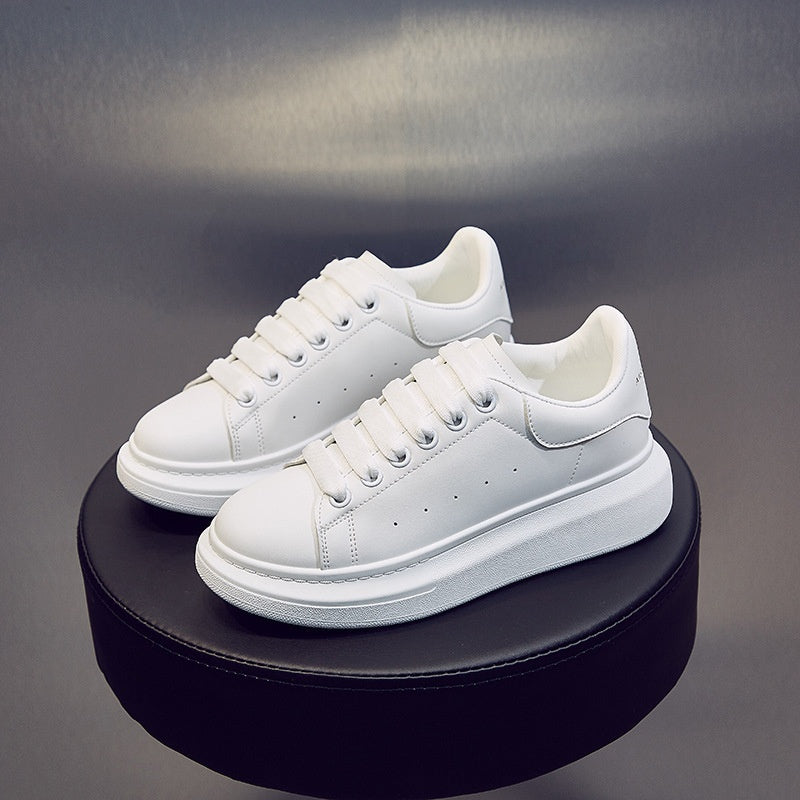 2020 Size 35-44 MQueen White Leather Platform Sneakers Women and Men Fashion Causal Shoes Flatshoes Party Wedding Shoes Sport Shoes