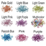 300pcs/lot 6 8 10 mm Open Jump Rings Colorful Split Rings Connectors For Diy Jewelry Finding Making Accessories Supplies