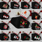 Adults Kids Unisex Christmas Dust Mask Happy New Year X-Mas Tree Mouth Masks Warm Windproof Cotton Face Mask