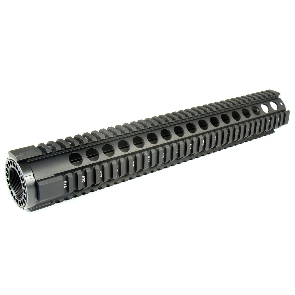 "Round Hole Free Float Quad Rail Picatinny Handguard For .223 5.56 - select 10""  12"" 15"""