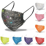 11 Colors Fashion Women Diamond Face Mask Anti-dust Mouth Mask