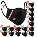 15 Countries Flags Print Face CoveringS Cotton Dustproof Windproof Reusable Washable Mouth Cover