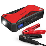 DBPOWER 800A Peak 18000mAh Portable Car Jump Starter (up to 7.2L Gas/5.5L Diesel Engine) Portable Battery Booster with LCD Screen or Auto Digital Battery Tester