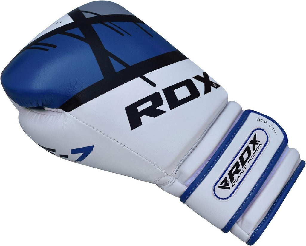 RDX Boxing Gloves for Muay Thai and Training, Maya Hide Leather Mitts for Sparring, Kickboxing, Fighting Glove for Punch Bag, Focus Pads, MMA, Thai Pad, Double End Ball Punching