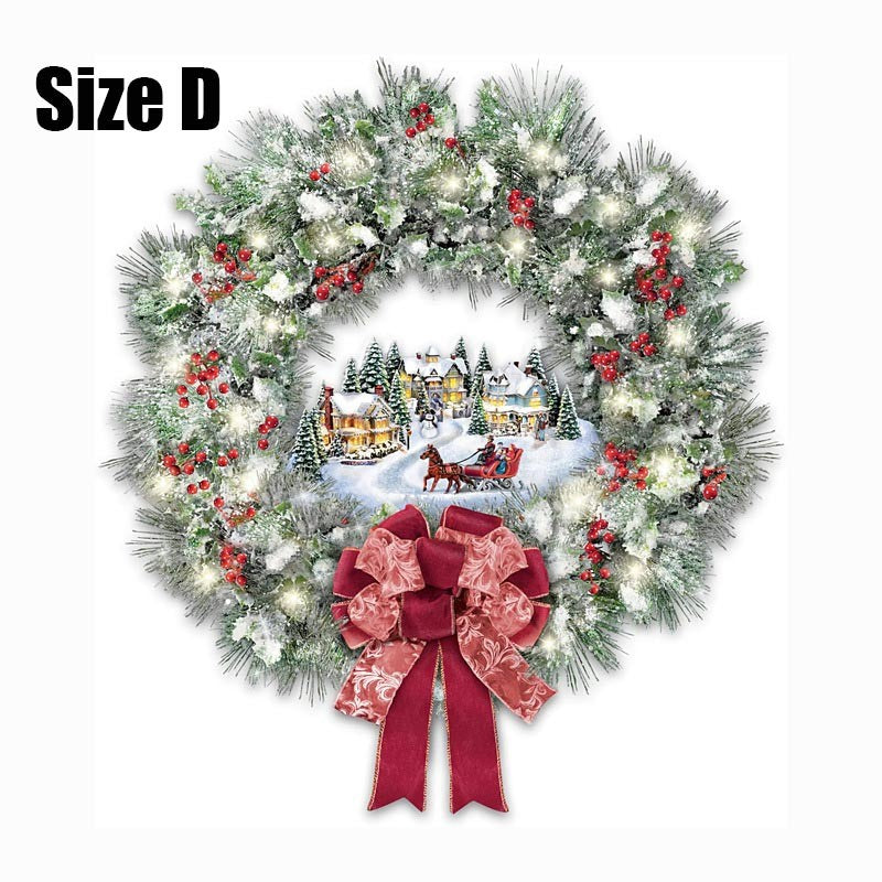 Christmas Tree Rotating Music Box Sculpture Train Christmas Stickers Window Paste Stickers Pegatinas Paredes Christmas Decorations for Home