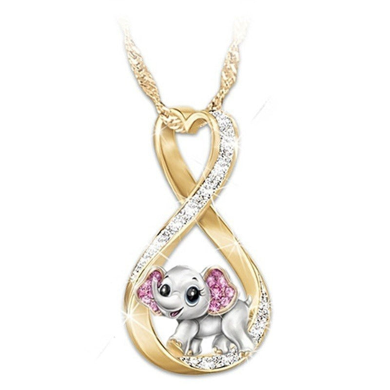 Charm Unique Womens Jewelry Pretty Cute Unicorn Necklace and Elephant Necklace Exquisite 925 Sterling Silver Necklace Lovely Cartoon Animal Necklace 18K Gold Necklaces for Women Engagement Necklace Wedding Necklace Birthday Anniversary Gift Fashion Access