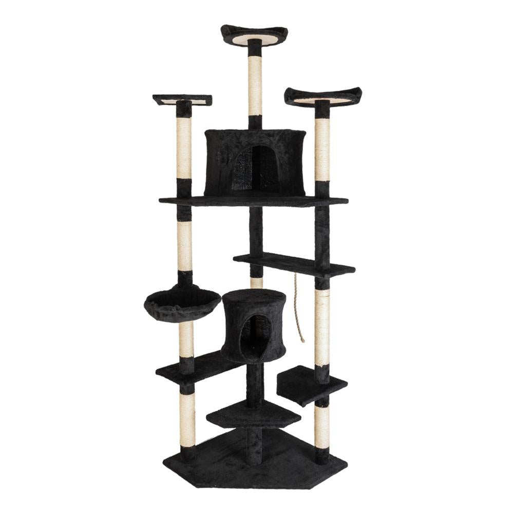 80 inch Cat Tree Tower Natural Sisal Rope Cat Climbing Tree Toy for Kitten Jumping Frame Or Banana Pet Bed