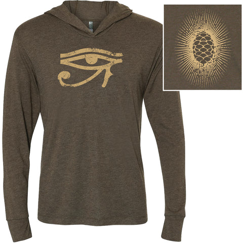 Unisex Eye of Horus Hoodie, Long Sleeve