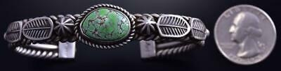 Silver & Carico Lake Four Feathers Navajo Bracelet by Erick Begay 9K17S
