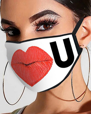 Valentine's Day PM2.5 Filter Breathable Face Mask