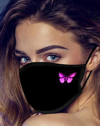 5PCS/Set Randomly Dispatched Butterfly Print Breathable Face Mask(Colors Sent Randomly)