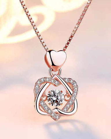 Crown Sparkling Dance Diamond Necklace