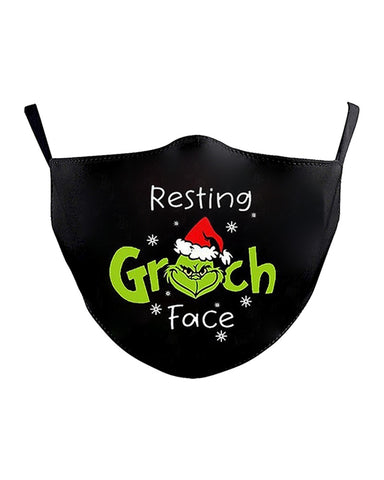Christmas Letter Cartoon Print Breathable Face Mask