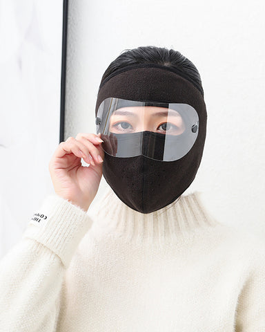 Velcro Breathable Face Bandana With Eyes Shield