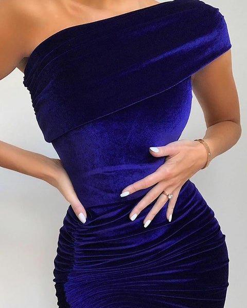 Solid Color Sleeveless Skinny Waist Dress
