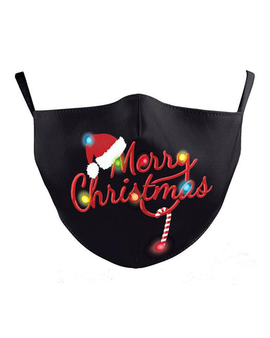 Christmas Print Breathable Filter Face Mask