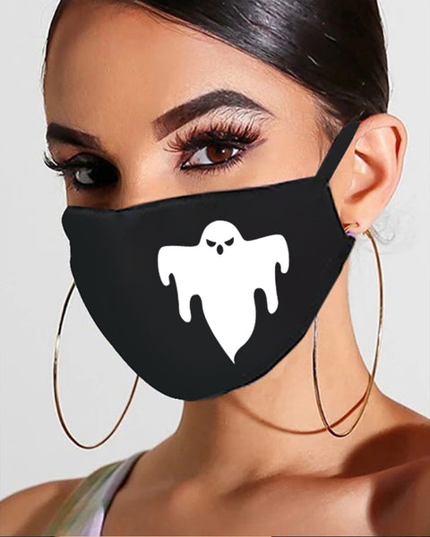 Halloween Skull / Ghost / Pumpkin Print Breathable Mouth Mask