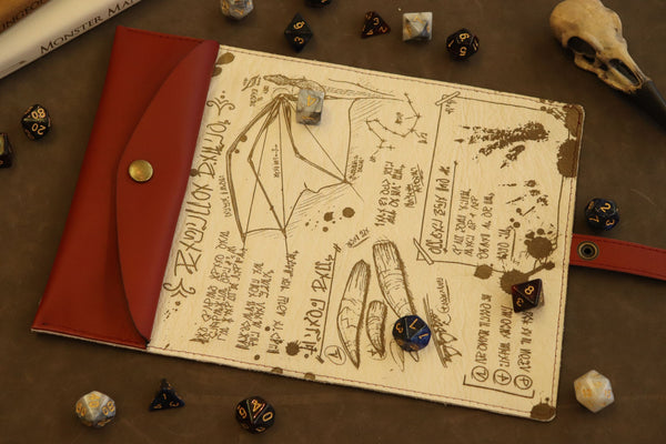 The Chromatic Dragon Scroll - Red