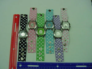 25 Snap Button Ribbon Watches