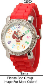 Load image into Gallery viewer, 6 Geneva Santa Silicone Strap Band Watches