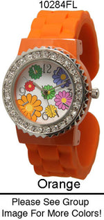 Load image into Gallery viewer, 6 Geneva Flower Silicone Bangles