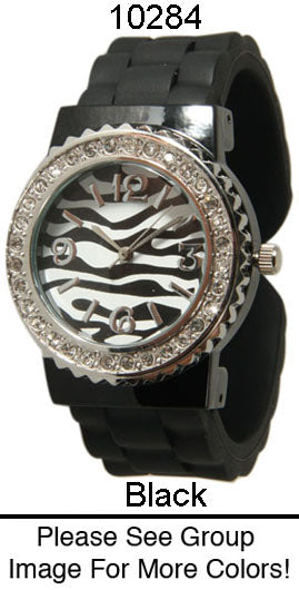 6 Geneva Silicone Bangle Cuff Watches