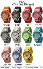 Load image into Gallery viewer, 6 Geneva Silicone Bangle Watches