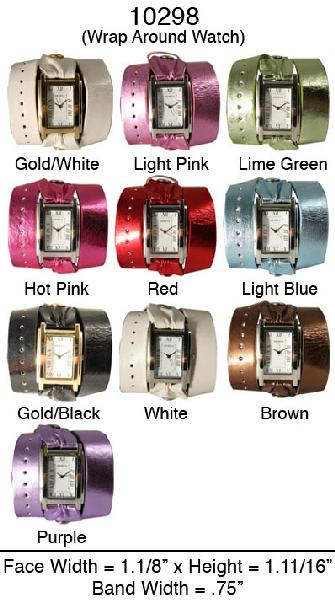 6 Geneva Women's Wraparound Watches