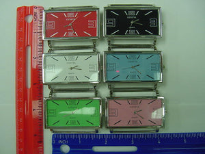 6 Jumbo Rectangle Solid Bar Watch Faces