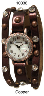 Load image into Gallery viewer, 6 Geneva Womans Snap Band Watches