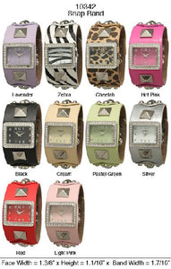 6 Womans Snap Band Watches