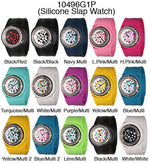 Load image into Gallery viewer, 6 Silicone Slap Band Watches