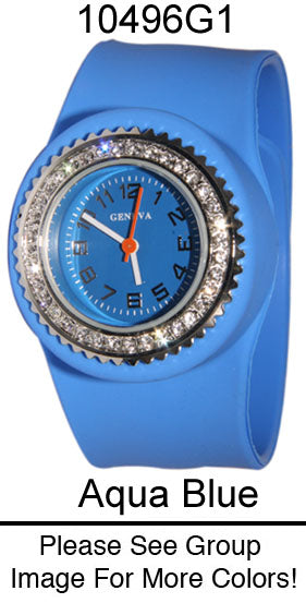 6 Geneva Silicone Slap on Watches