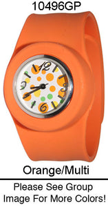 6 Silicone Slap Band Watches