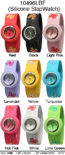 6 Geneva Silicone Slap Band Watches