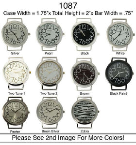6 Jumbo Round Solid Bar Watch Faces