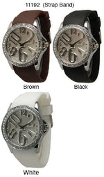 Load image into Gallery viewer, 6 Geneva Ceramic Silicone Style Watches