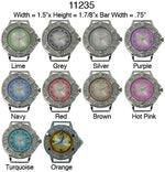 Load image into Gallery viewer, 6 Solid Bar Watch Faces/W Rhinestones