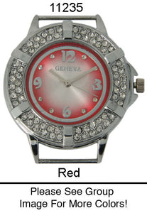 6 Solid Bar Watch Faces/W Rhinestones