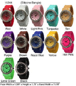 Load image into Gallery viewer, 6 Geneva Silicone Bangles Watches
