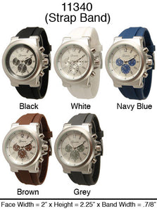 6 Geneva Mens Strap Band Watches