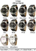Load image into Gallery viewer, 6 Geneva leather strap band watches