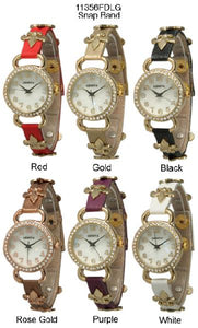 6 Geneva Snap on Watches