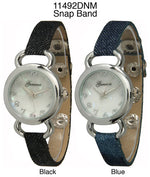 Load image into Gallery viewer, 6 Geneva Snap Band Watches