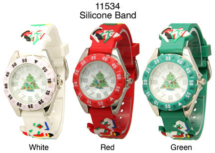 6 Children's Silicone Strap Band Watches