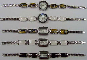 6 Womens Assorted bracelet style with Enamel.