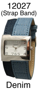 6 Geneva Denim Strap Band Watches