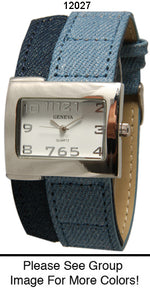 Load image into Gallery viewer, 6 Geneva Denim Strap Band Watches