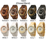 Load image into Gallery viewer, 6 Geneva Closed Band Watches w/Rhinestones